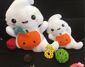 Halloween ghost toy / Handmade halloween plush / Halloween decor / Halloween ghost softie