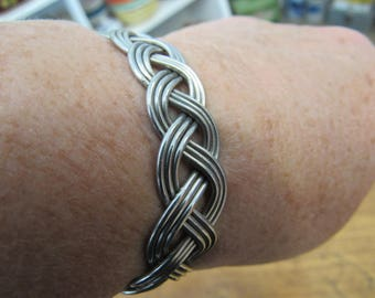 Vintage Stainless Steel Wire Wrap Celtic Bracelet