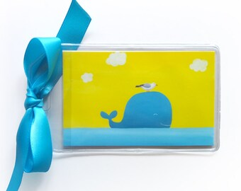 Whale Luggage Tag - Kids Luggage Tags - Whale Bag Tag