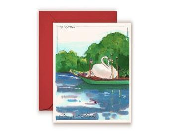 Swan Boats Boston Commons MA