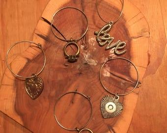 I Do! - Set of 5 Wine Glass Charms