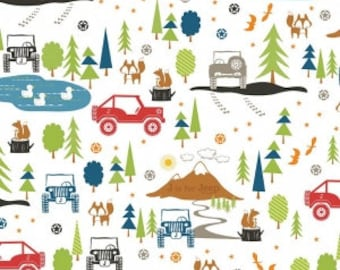 J is For Jeep Main Print Multi from Riley Blake Designs