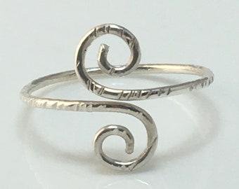 Dainty Ring Minimalist Ring Dainty Rings Delicate Ring Silver Boho Ring Bohemian Ring Boho Silver Ring Minimalist Rings Textured Ring Thin