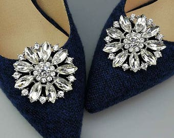PETA - Circle of Rhinestones Shoe Clips