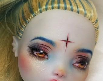 Doll Repaint | Monster High Custom | Lagoona Blue (HEAD ONLY)