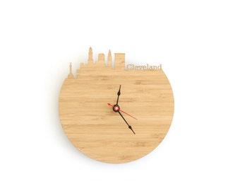 Wall Clock - Cleveland Skyline