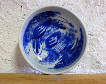 Antique bowl 2042, blue and white,