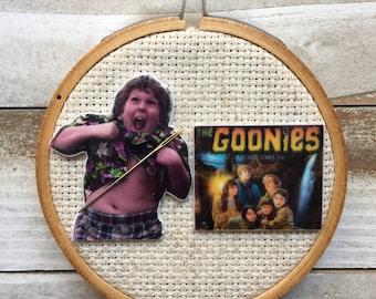 The Goonies Needle Minder - Truffle Shuffle Magnet for Cross Stitch - Chunk Needle Minder - Goonies Magnet - 80s Needle Minder