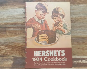 Hersheys 1934 cookbook , 1971,vintage cookbook