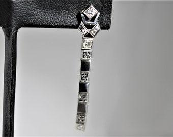 Palladium Diamond dangle earrings