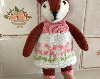 Handmade Knitted Fox