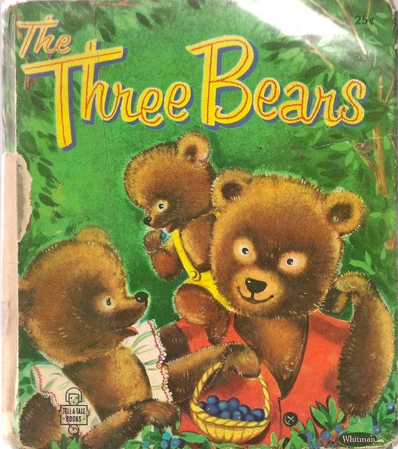 The Three Bears a Whitman Tell-a-Tale Book + Suzanne + 1955 + Vintage Kids Book