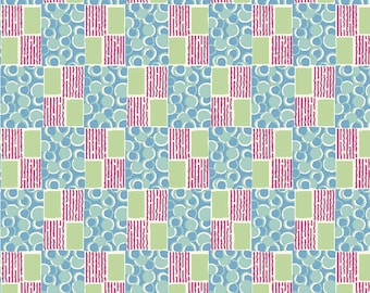 Edith's Patchwork - Downton Abbey Lady Edith Collection A 7329 B - Blue Reproduction Fabric - Andover Quilt Shop Fabric Shirting