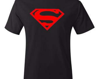 Superman Logo Shirt in Black