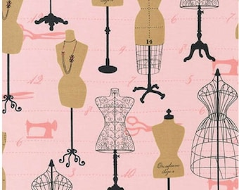 Vintage Dress Forms by Cynthia Frenette from Sewing Studio Pink - Robert Kaufman by the Yard