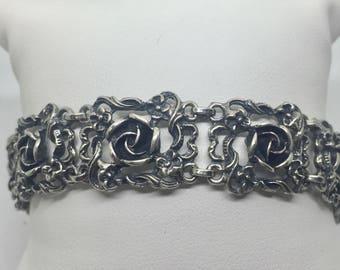 Flower bracelet Rose ornaments sterling silver 925