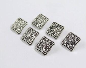 Ornate Square Metal Buttons (10pk) [MB0007]