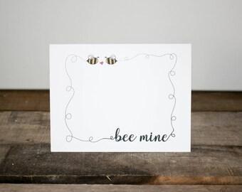 Bee Mine Valentine Card/ Valentine's Day Card/ Valentine's