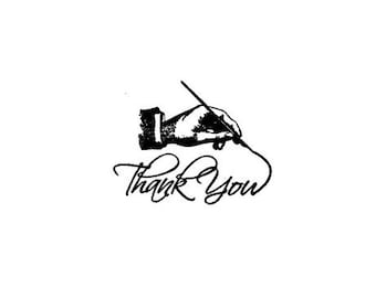 Hand drawing thank you Rubber Stamp