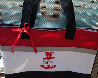 Customized Zippered Tote Bag