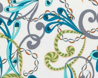 Robert Kaufman Quill by Valori Wells Scroll in Cabana by the Yard