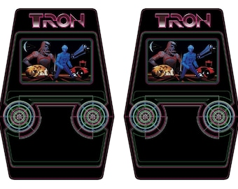Tron Arcade Cabinet Graphics For Reproduction Side Art Panels