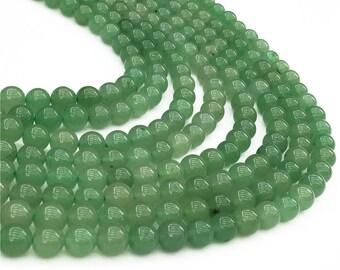 1Full Strand Green Aventurine Round Beads, 8mm 10mm Wholesale Gemstone For Jewelry Making