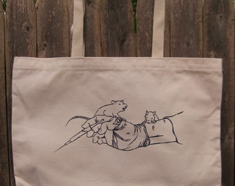 Rats vs Animal Tester: Organic Tote