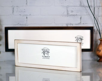 Panoramic Picture Frame in 1x1 Flat Style and Vintage Color of Your Choice - Select Your Size: 6x12 - 6x18 - 6x24 - 6x30