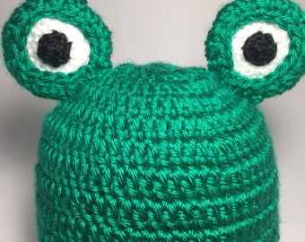 baby hat, baby beanie hat, baby animal hat, crochet hat, cute hat, baby girl hat, baby boy hat, frog hat, newborn hat