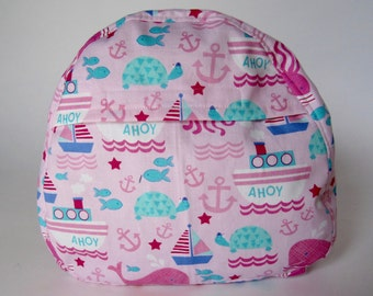 Pink Nautical Girl Toddler Backpack