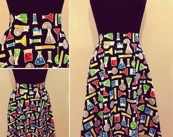 Chemistry Beaker Science Nerd Geek Skirt