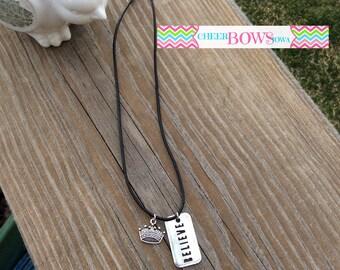 BELIEVE & Crown Necklace