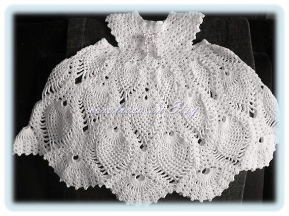 Baby Crochet Pattern Child S Lacy Pineapple Dress