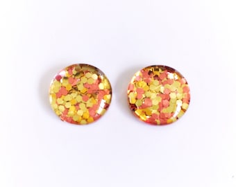 The 'Gold Digger' Glass Glitter Earring Studs