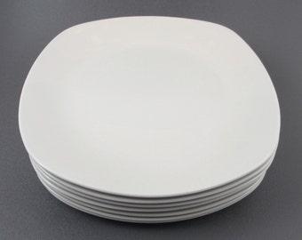 Midwinter Stylecraft Fashion Shape White Dinner Plates Set of 6