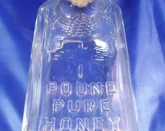 Vintage 1 pound Honey Bottle