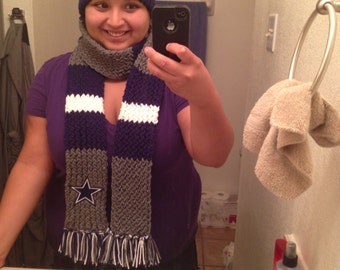 Dallas Cowboy Scarf & Beanie set