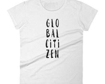 Women's Short Sleeve Global Citizen T-shirt | Travel Tee | Gift For Traveler | Travel Gift | Explorer Tshirt | Gift for Her