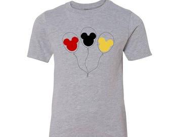 Disney Family Shirts, Disney Shirt for Girls, Mickey Balloon T Shirt, Boys Disney Shirt, Disney Family Vacation T Shirt