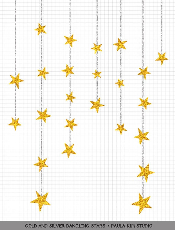 dangling gold star clipart gold glitter clip art commercial rh etsy com Silver and Gold Coin Clip Art Silver and Gold Coin Clip Art