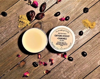 CAFFEINE+ROSEHIP+CHAMOMILE Eye Cream-100% Organic Plant Based-Anti Aging-Anti Puffy Eye Cream-Soothing-Wrinkle Cream-1oz -iLovebyCindy.com