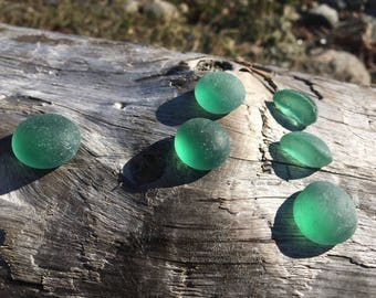 LARGE GREEN sea glass pieces