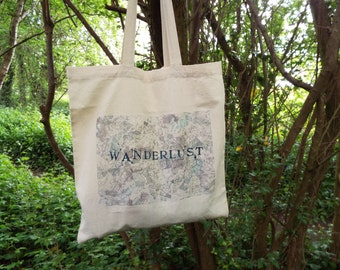 Wanderlust Map Tote Bag - Original No.1