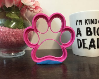 Dog Paw Print -  Cookie / Fondant Cutter - 3D Printed