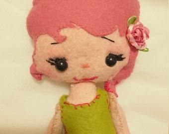 Handmade art Felt plush doll