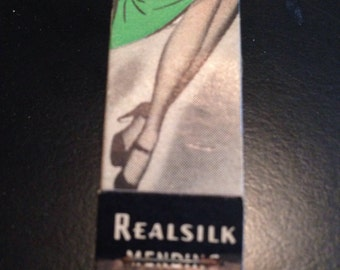 Vintage collectable Realsilk meding kit for hosiery match book style