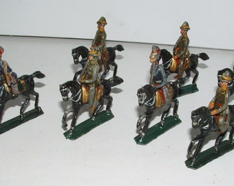 Vintage Lead Horse Mounted Soldiers Barclay Manoil    **********1920's-1940's********