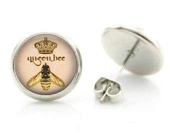 Queen Bee Earrings - New - Pair!