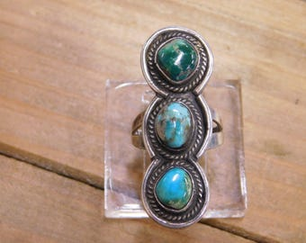 Sterling Silver Turquoise Ring Size 6.75